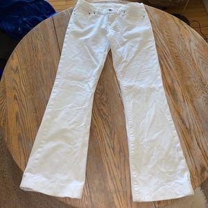 SEVEN 99%cotton bootcut low rise stripe jeans/29